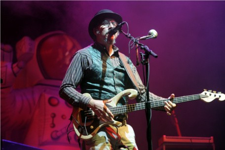 Les Claypool performs with Primus