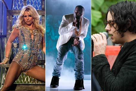 britney spears, kanye west, jack white