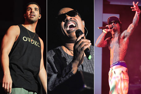 Drake, Stevie Wonder, Lil Wayne