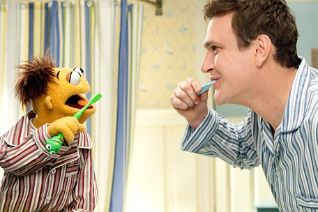 Jason Segal and Walter the Muppet