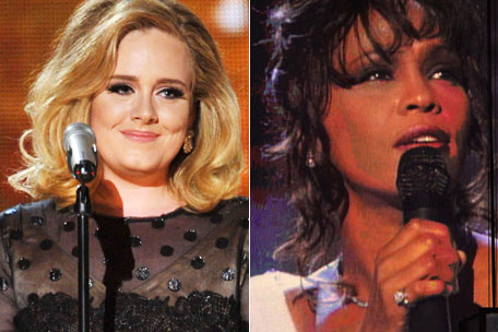 Adele, Whitney Houston