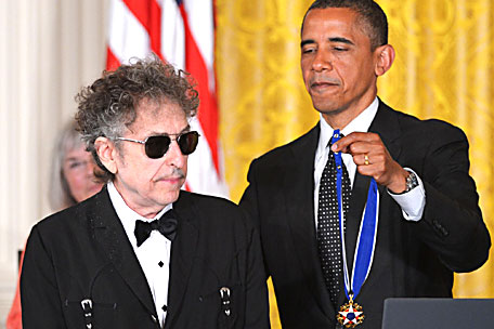Bob Dylan Awarded Medal of Freedom - Spinner