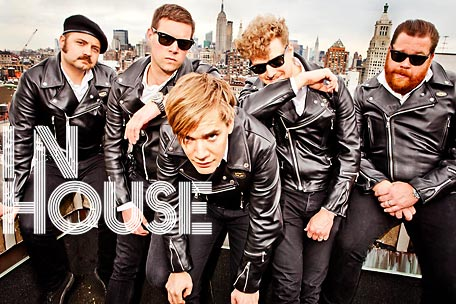 The Hives on Spinner's office roof