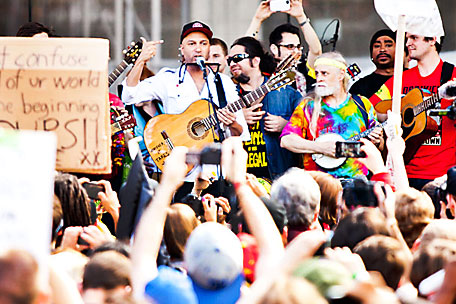 Tom Morello at Occupy Wall Street