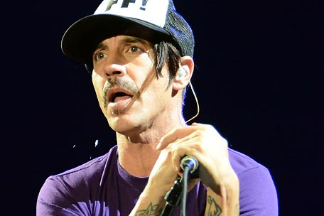 Red Hot Chili Peppers singer Anthony Kiedis at Bonnaroo