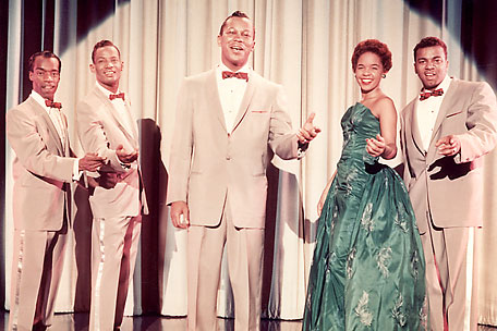 Herb Reed of the Platters, pictured at far left, has died at 83