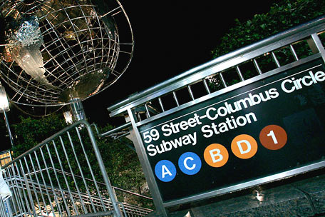 Columbus Circle Subway Stop
