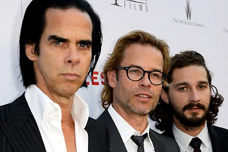 Nick Cave, Guy Pearce and Shia LeBeouf