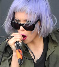 Crystal Castles' Alice Glass, who criticzed Katy Perry