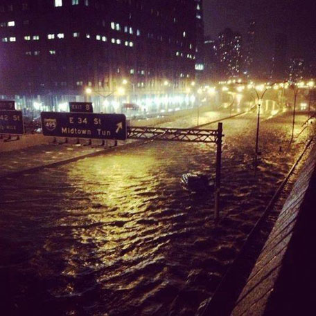 Jesse Malin's photo of Hurricane Sandy flooding New York