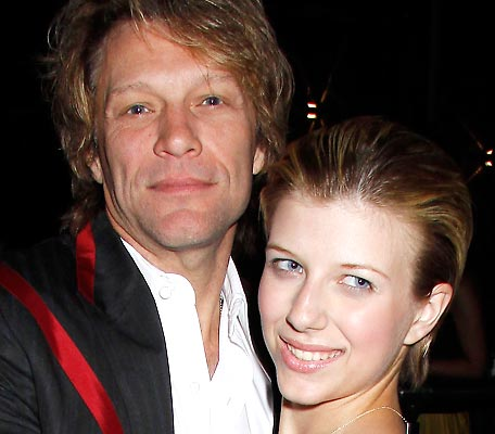 Jon Bon Jovi and his daughter, Stephanie Rose Bongiovi, who was arrested for heroin possesion following an overdose