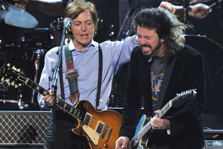 Paul McCartney Dave Grohl Nirvana