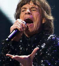 Mick Jagger at the Rolling Stones show in Brooklyn