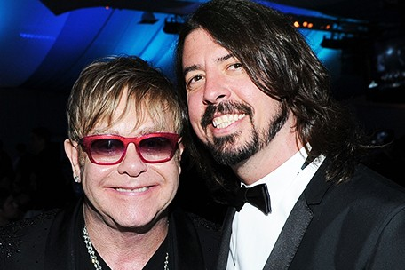 Dave Grohl Elton John Queens of the Stone Age