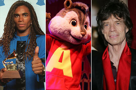 Milli Vanilli Alvin and the Chipmunks Mick Jagger Rolling Stones