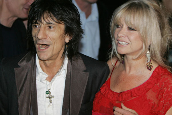 Ronnie Wood Jo Wood Rolling Stones