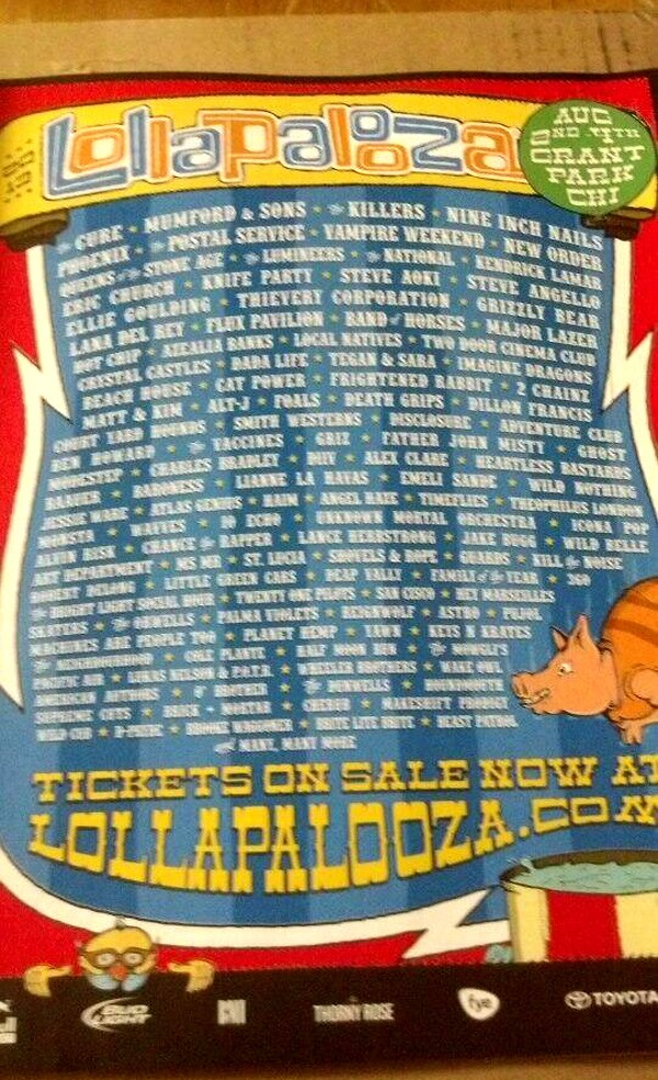 Lollapalooza 2013 Lineup - Spinner