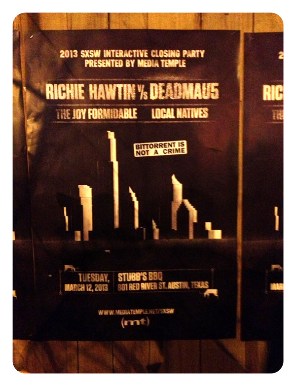 SXSW poster