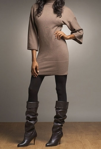 mark eisen banded turtleneck dress