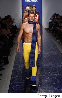 fall 2008 nautica fashion show topless male model