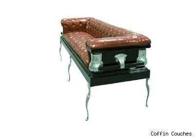 Casket Furniture on Coffin Couches  Green And Creepy   Stylelist