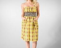 plenty by tracy reese linen plaid dress