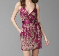 rory beca virginia silk mini dress