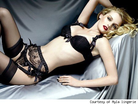 celebrity lingerie lydia hearst s sexy new lingerie campaign