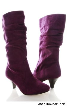 Crazy cravings: Purple Suede Boot Lust - StyleList Blog :  suede boot purple