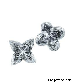 Louis Vuitton patented rounded and pointed flower diamonds