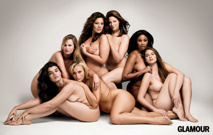 naked plus size models glamour