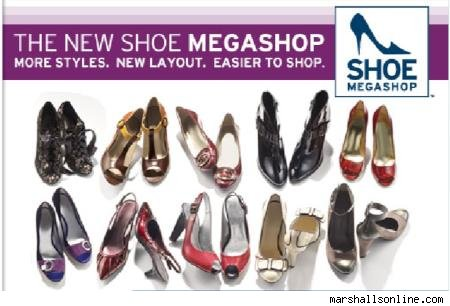 "Marshalls Shoe Megashop is indeed somewhat ""mega."" We almost drowned in our"