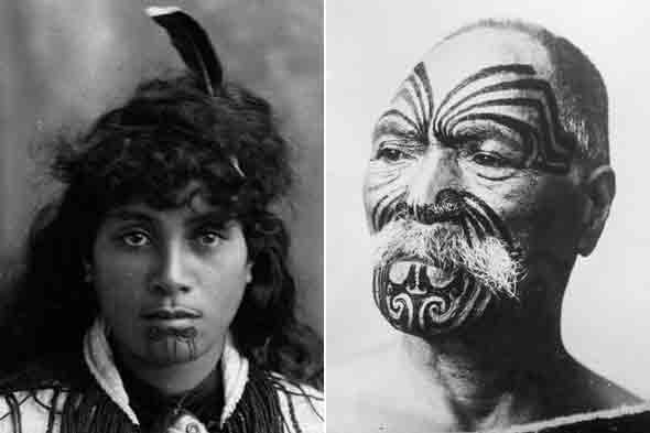 maori face tattoo. types of Maori tattoos.