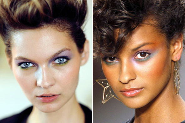 Green eye shadow -- from mint to kelly -- is loved by makeup artists for