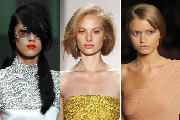 Spring 2010 runway lip color prada tuleh and donna karan