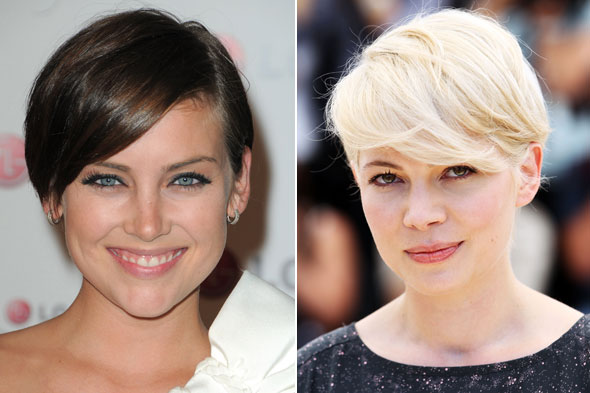 michelle williams haircut december 2010. michelle williams hair short.