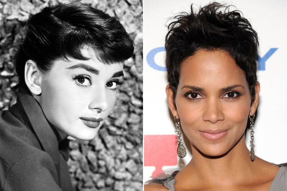 Audrey Hepburn and Halle Berry
