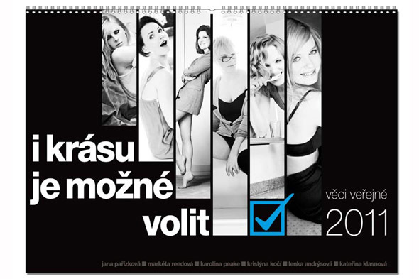 female members Czech Public Affairs party sexy 2011 charity calendar