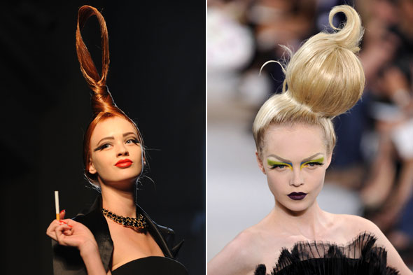Paris haute couture a w 2010 beauty roundup huffpost uk for Haute hairie