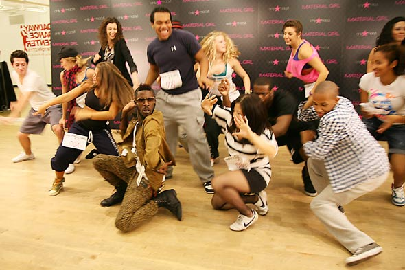 Madonna Material Girl launch dance competition group shot dancing