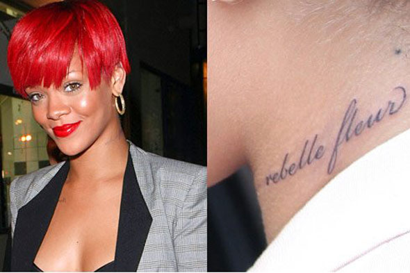 rihanna tattoos 2010. Rihanna flaunts a new neck