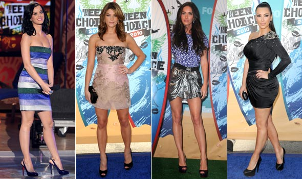kim kardashian style 2010. teen choice awards 2010 kary