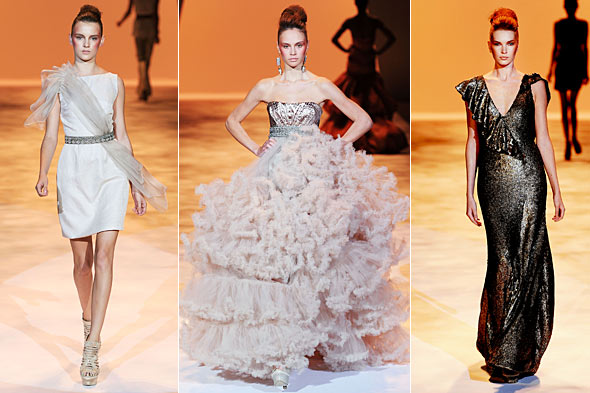 chrisitan siriano spring 2011 new york fashion week runway show dresses