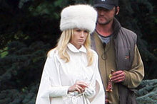 January Jones works ice cool style as Emma Frost on X-Men: First Class set