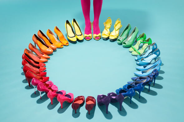 Shoes in every color