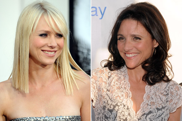 Naomi Watts (left) and Julia Louis-Dreyfus (right) have great back-to-school