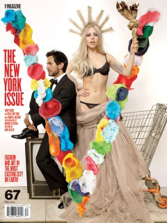 lady gaga and marc jacobs on the cover of V magazine