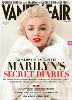 Marilyn Monroe Vanity Fair cover