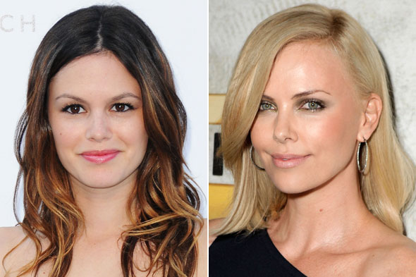 Rachel Bilson stands out with ombre hair color and Charlize Theron's blonde