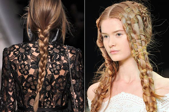 Beauty Trends at Spring 2011 Paris Fashion Week: Braids, Ballerinas and Bleached Brows